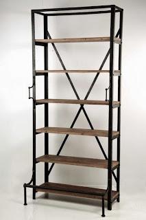 Estanteria madera forja, estanteria decoracion, estanteria alta