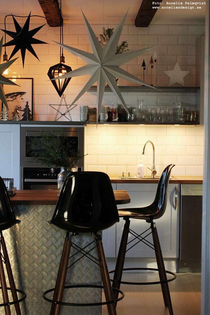 annelies design, webbutik, webshop, nätbutik, inredning, jul, julpynt, gran, granar, kök, köket, industriellt, industristil, stjärna, stjärnor, dekoration, lampa, lampor