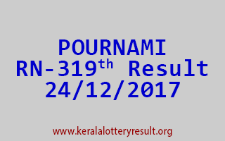 POURNAMI Lottery RN 319 Results 24-12-2017