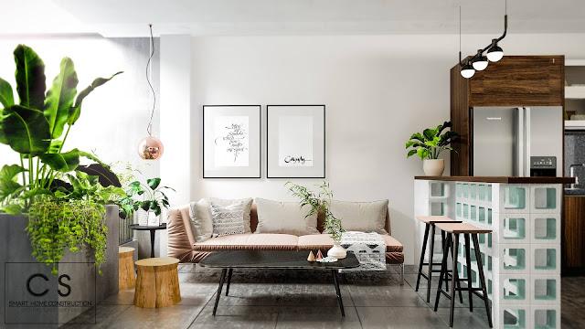 trang trí nội thất với nhiều gam màu khác nhau