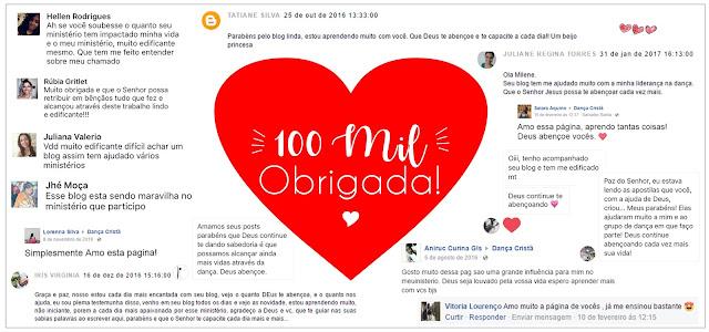 AGRADECIMENTOS - 100 MIL LIKES NO FACEBOOK ♡