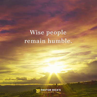 Be Humble or You'll Stumble by Rick Warren