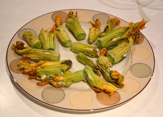 Stuffed Zucchini Blossoms with Ricotta and Basil