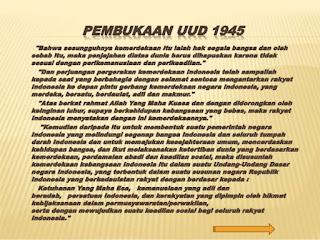 Makna Undang-Undang Dasar (UUD) 1945