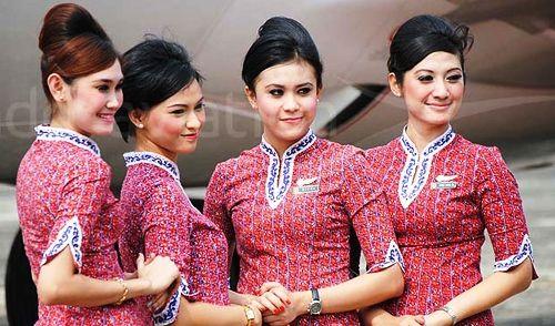 Model Baju Batik Pramugari Terbaru Modern