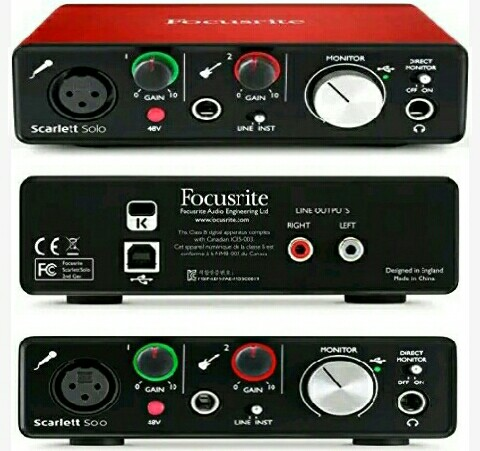 Scarlett Solo Digital Audio Recording USB Interface