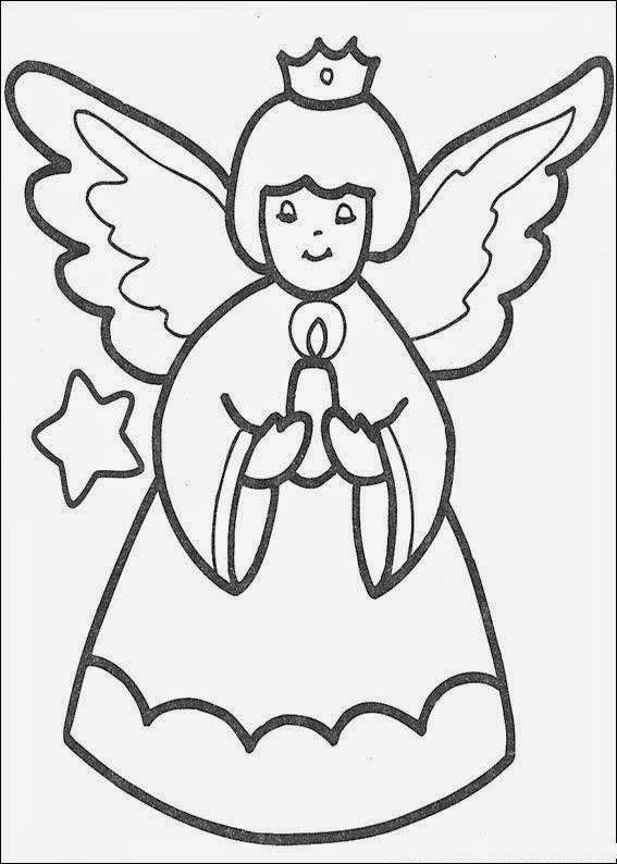 Desenhos Para Colorir E Imprimir Anjos Natalinos Para Colorir
