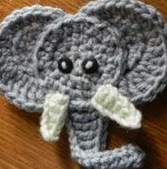 http://www.craftsy.com/pattern/crocheting/other/elephant-applique/82945