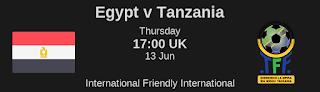 اون لاين يوتيوب مشاهدة مباراة مصر وتنزانيا بث مباشر اليوم 13-06-2019 مباراة ودية اليوم بدون تقطيع