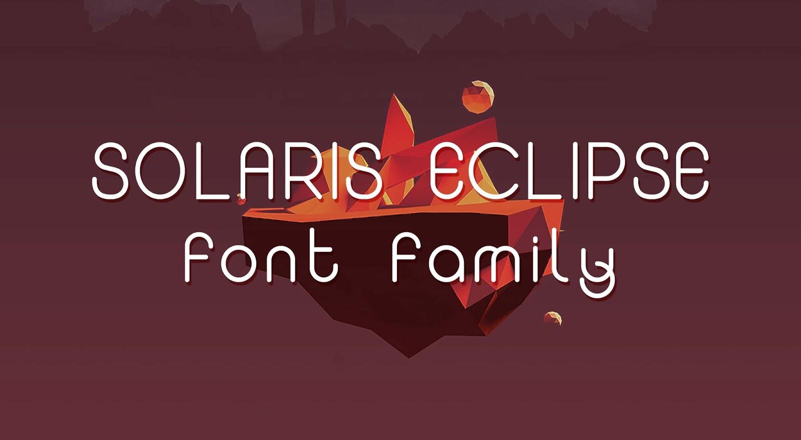 Font gratis terbaru - Solaris Eclipse Free Font