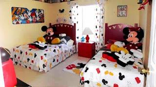 Desain Kamar Tidur Anak Lucu Motif Mickey Mouse