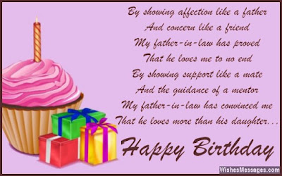 Happy Birthday  wishes quotes for father-in-law: by showing like a father