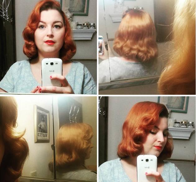 pin curl pageboy vintage hairstyle via va voom vintage