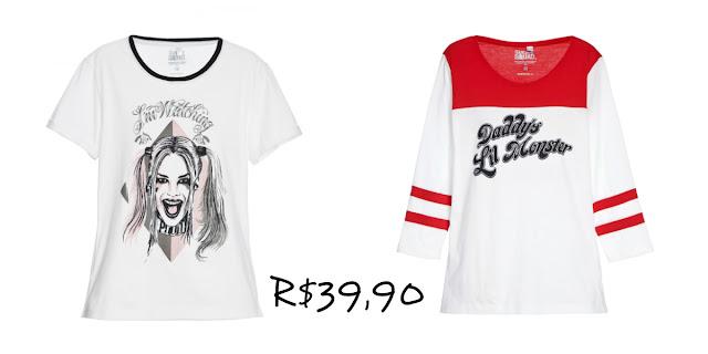 coleção de camisetas esquadrão suicida, Camiseta Arlequina (1)
