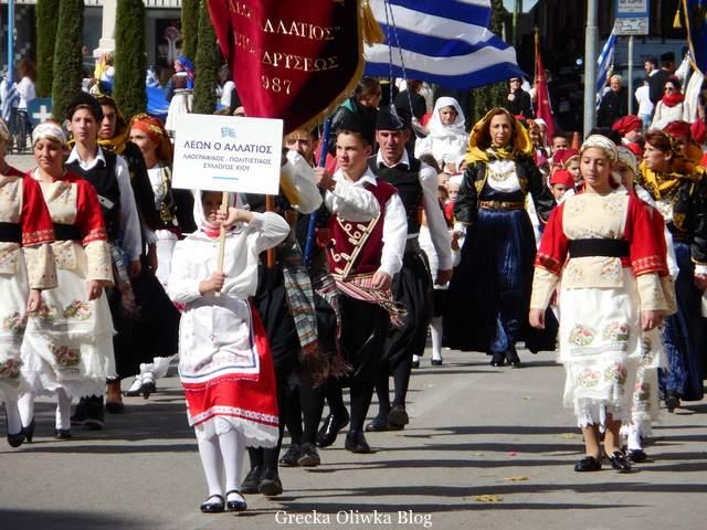 parada z okazji narodowego święta dnia ochi, chiotes, grecja
