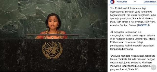 Wapres JK Tak Anggap Eni Lestari Wakili Indonesia, JBMI Sesalkan dan Marah Atas Pernyataan Jusuf Kalla