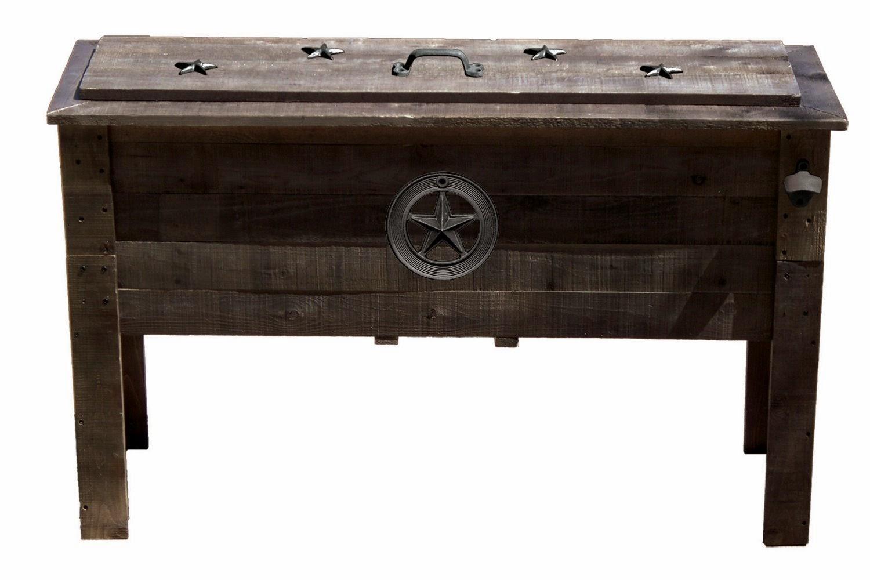 patio cooler: wooden patio cooler