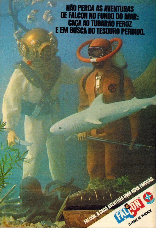 Propaganda do Falcon, no final dos anos 70 apresentando a série: fundo do mar