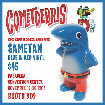 Designer Con 2016 Exclusive Blue and Red Sametan Vinyl Figure by Cometdebris