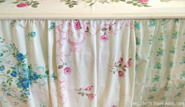 Vintage pillowcase curtains