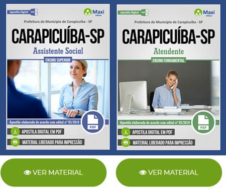 Apostila concurso Prefeitura de Carapicuíba 2018 Assistente Social