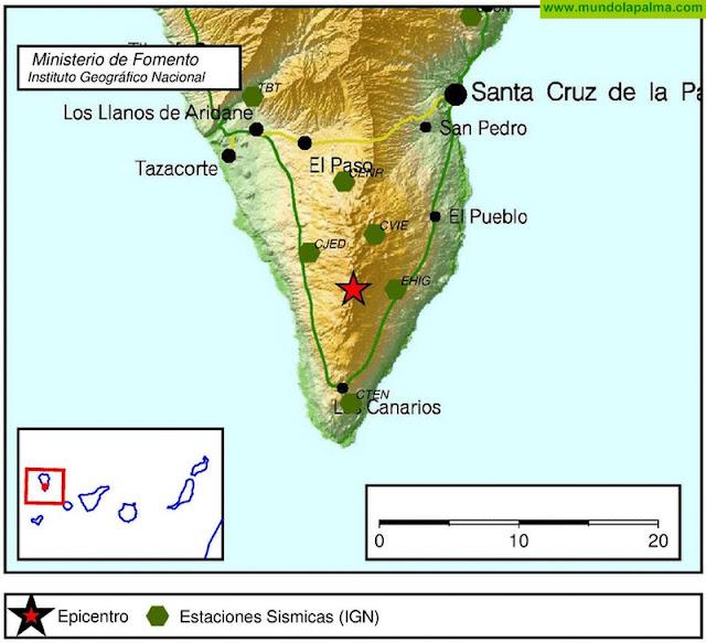 Continúan los movimientos sísmicos en el sur de La Palma
