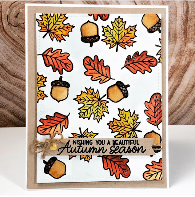 Sunny Studio Stamps: Beautiful Autumn Customer Card by Diane