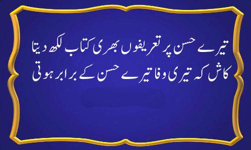 Tere Husn Par Tareef Bari Kitab Likh Deta Bewafa Poetry top 5 collection
