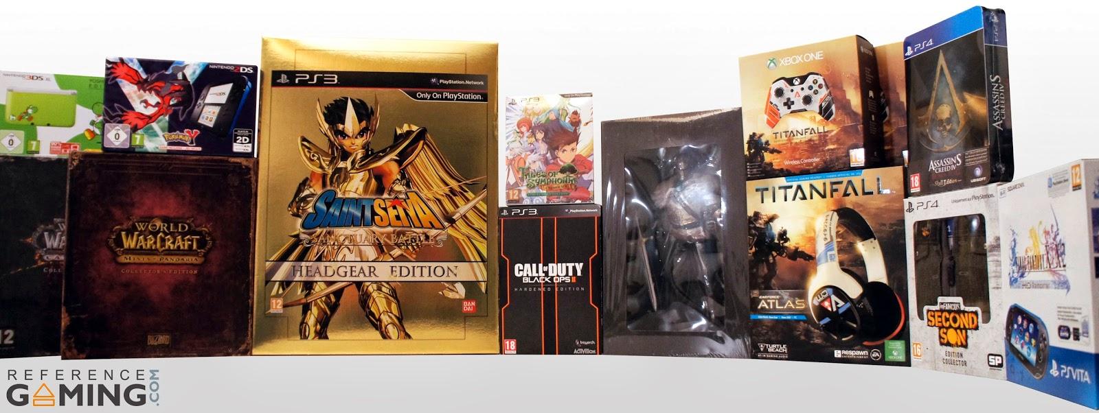 Photos de jeux vidéo, accessoires et consoles éditions limitées.