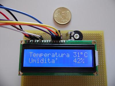 LCD1602 e DHT11 con Arduino Uno R3 per misurare temperatura e umidità - di Paolo Luongo