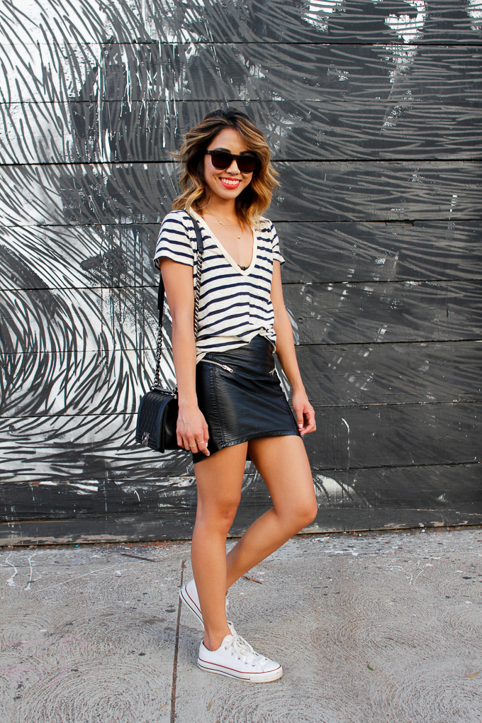 How to style leather skirt