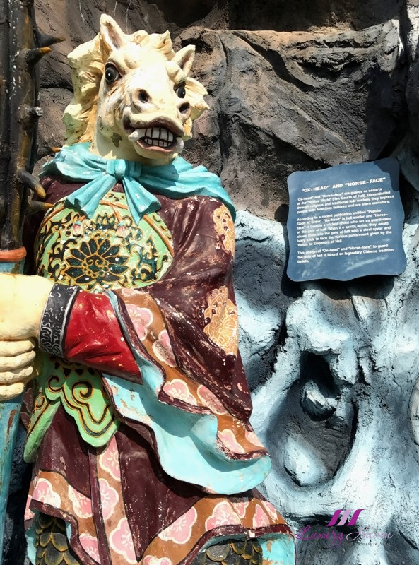 haw par villa ox head horse face