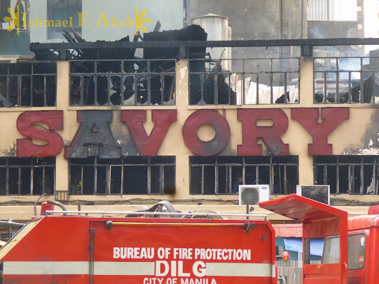 Burnt building of Savory, Kalye Escolta, Manila