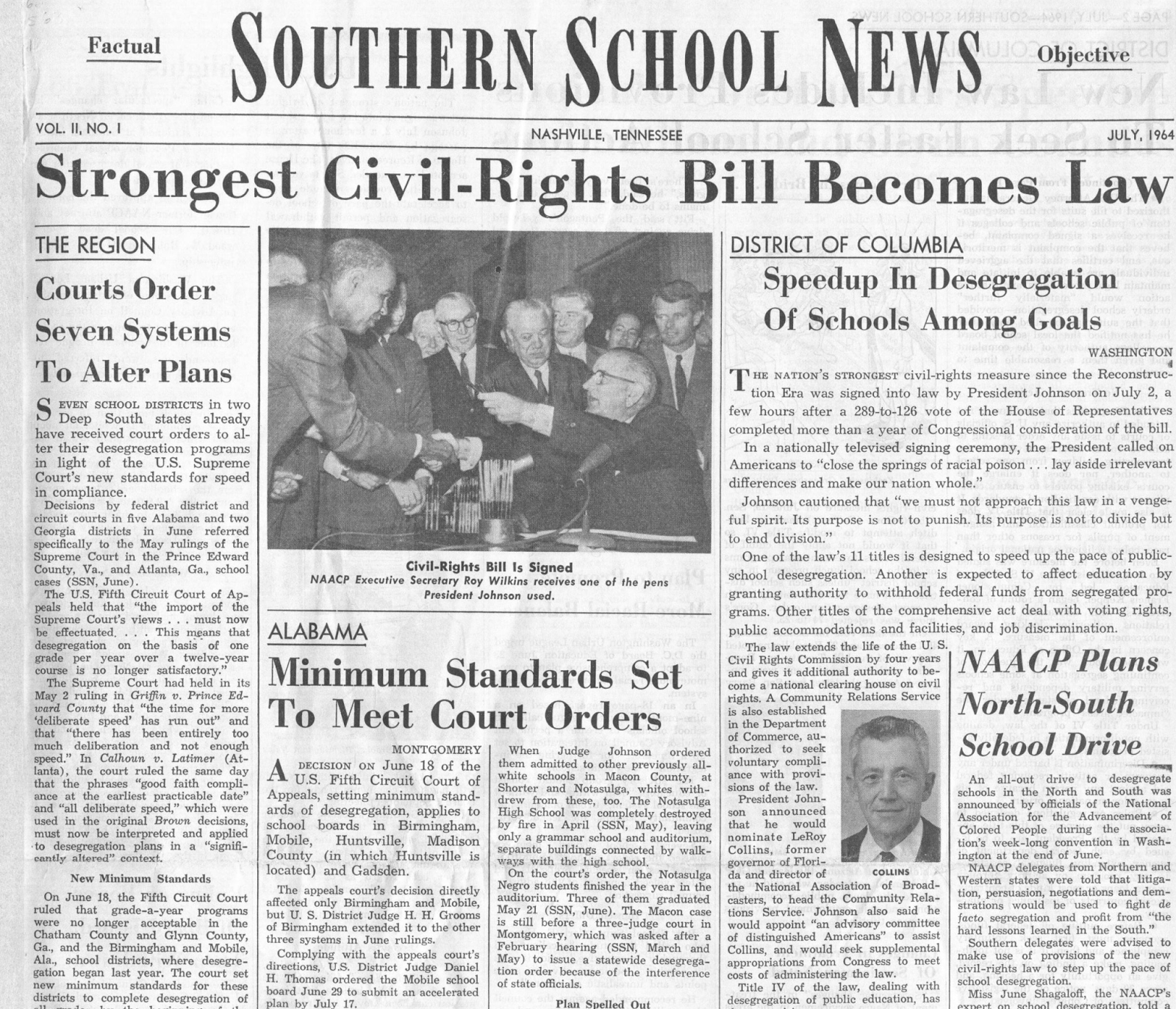 library archives news the tennessee state library and archives  beginning the publication of the first issue on 3 1954 each journal reported about desegregation of u s public schools state by state