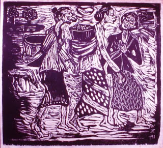 Lukisan Karya Widayat dengan Judul Pergi ke Pasar
