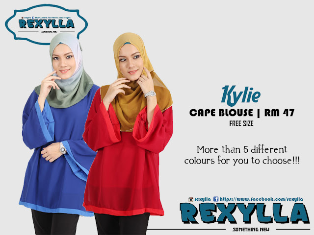rexylla, cape blouse, kylie collection