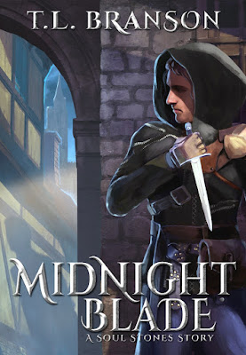 Updated cover design of Midnight Blade by T.L. Branson
