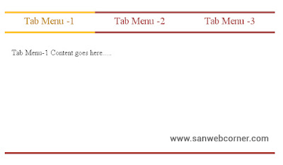 Simple and Stylish tab menu using css