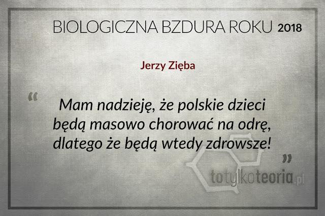Jerzy Zięba Biologiczna Bzdura Roku 2018