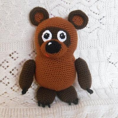 Мишка Винни Пух крючком амигуруми