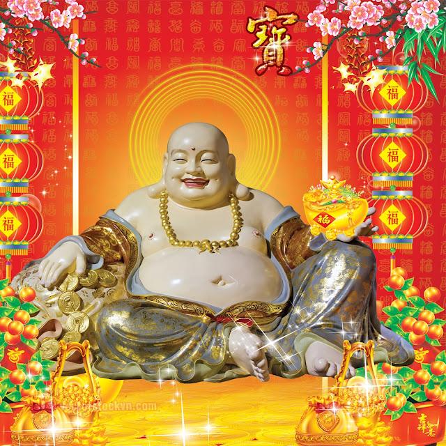 Vector Phật Di Lặc File PSD.