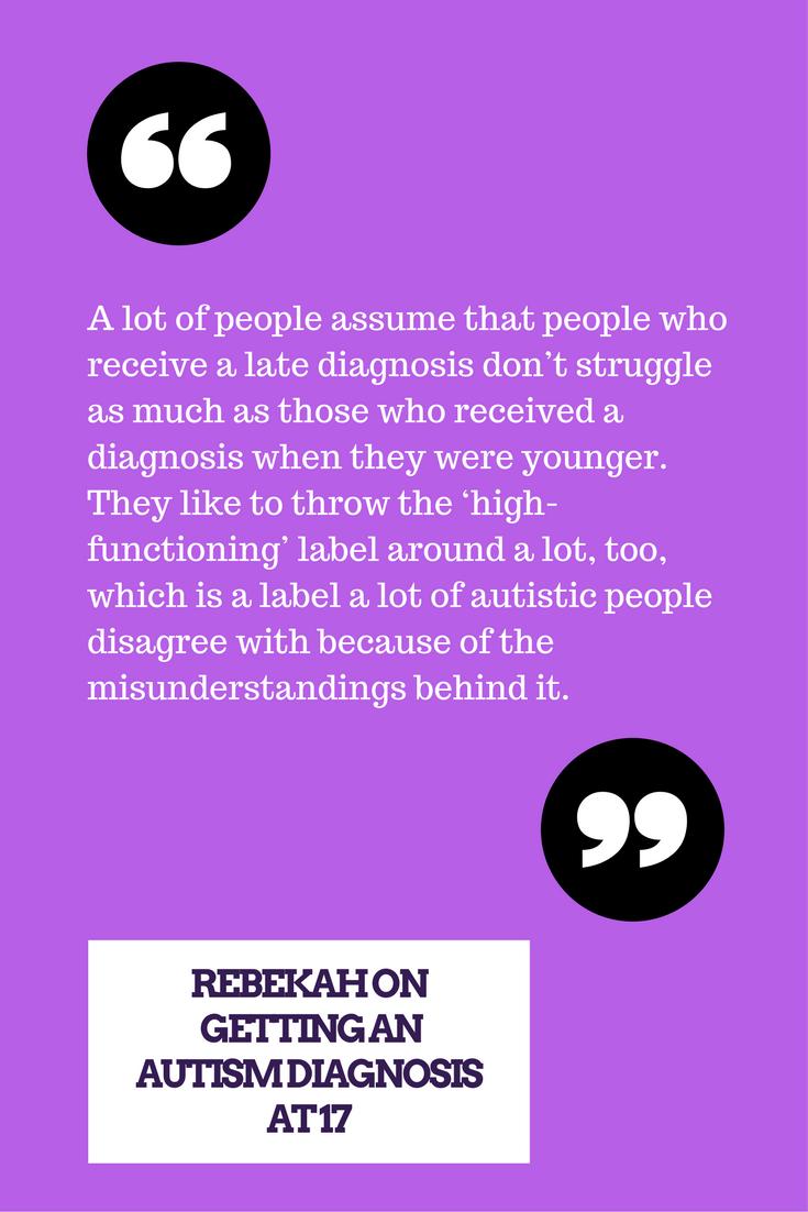 autism diagnosis as an adult