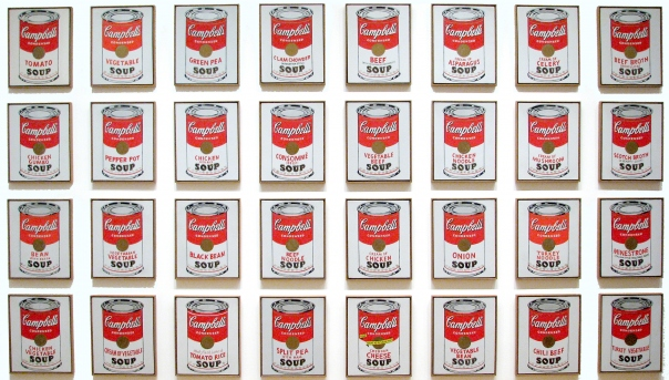 Resultado de imagen de latas de sopa campbell andy warhol