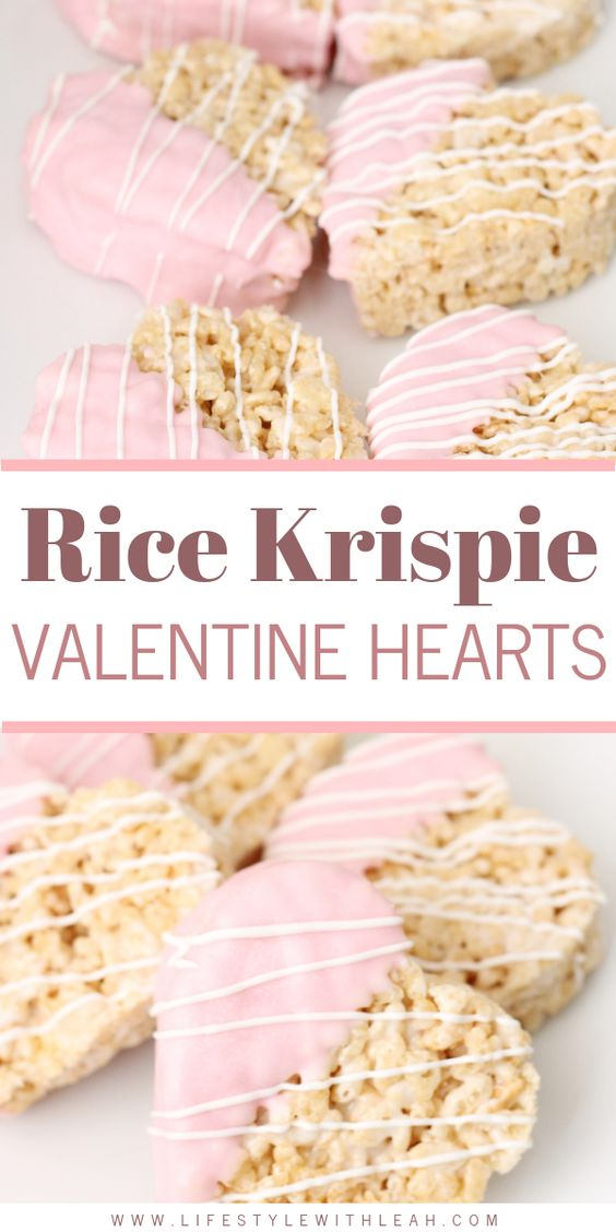 Rice Krispie Valentine Hearts