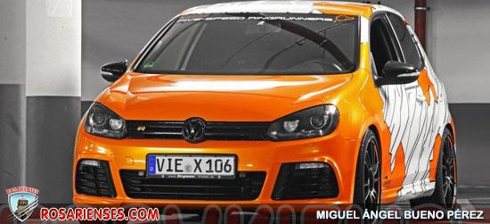 Volkswagen Golf R, naranja eléctrico con camuflaje y 325 CV | Rosarienses, Villa del Rosario