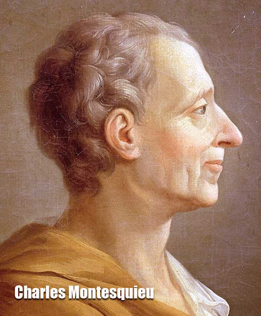 Foto Charles Montesquieu pengemuka paham politik