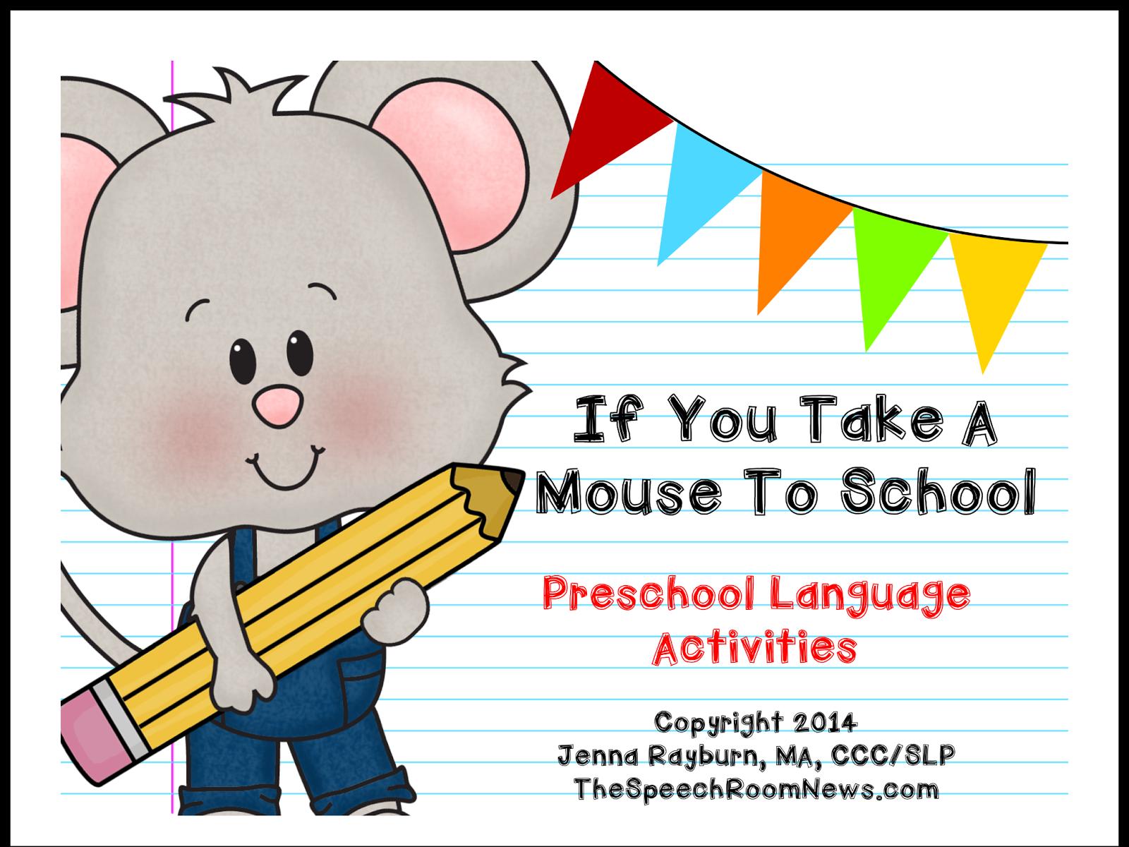 http://www.teacherspayteachers.com/Product/Take-A-Mouse-to-School-Preschool-Book-Companion-1340562