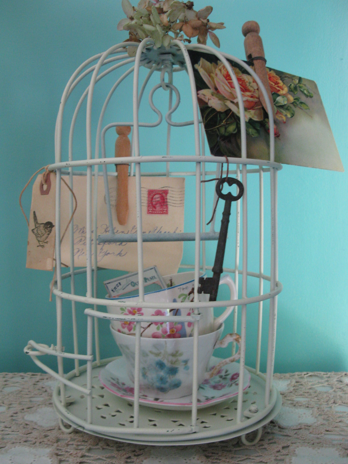 My Sparrows Nest Shabby Chic Bird Cage