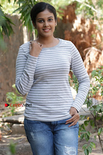 Tamil Actress Chandini Tamilarasan Latest Pos in Ripped Jeansat Ennodu Vilayadu Press Meet  0051.jpg