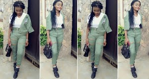 Female Corps Member Rocks Her NYSC Uniform With Torn Trouser